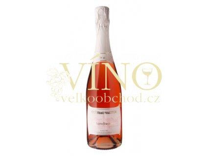 Vinné sklepy Valtice Grandirosso sekt brut rosé 0,75 l suché šumivé růžové víno