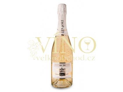 Vinné sklepy Valtice Grandioso sekt GOLD brut 0,75 l suché šumivé bílé víno se šupinkami zlata