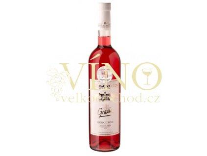 Vinné sklepy Valtice Gracie Merlot rosé 2015 pozdní sběr 0,75 l suché růžové víno