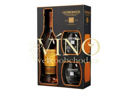 Glenmorangie Original 10 Years Old 0,7 L 40%, single malt whisky + 2 skleničky