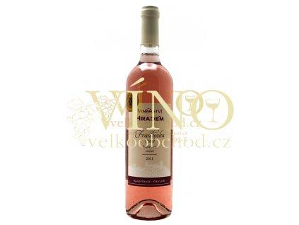 Frankovka rosé 2012, kabinetní, suché víno 0.75 l, Vinařství pod Hradem