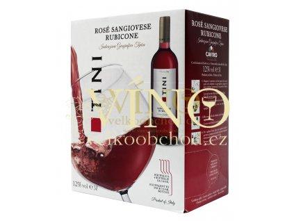 Akce ihned Tini Rosé Sangiovese Rubicone I.G.T. BIB 3 l italské růžové víno bag in box