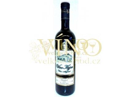 Vinné sklepy Skalák André 2005 pozdní sběr BARRIQUE 0,75 L polosuché červené víno