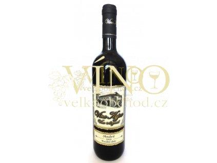 Vinné sklepy Skalák André 2003 pozdní sběr 0,75 L suché čevené víno