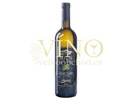 Vinné sklepy Skalák Müller Thurgau 2014 zemské 0,75 L polosuché bílé víno