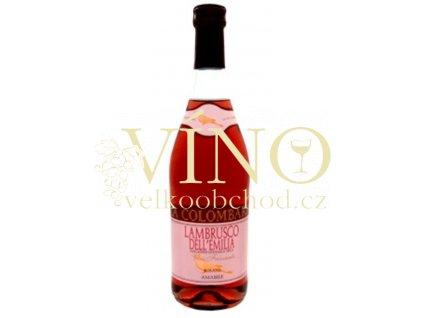 La Colombara Lambrusco Rosato 0,75 L polosladké italské růžové víno z Emilia Romagna