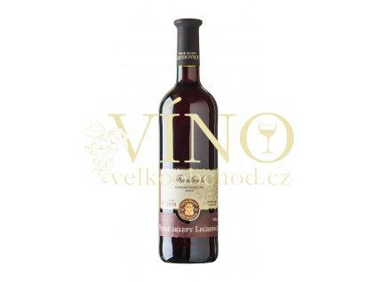 Znovín Znojmo Frankovka 0,75 l suché červené víno Vinné sklepy Lechovice