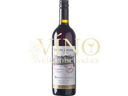 Znovín Znojmo Gastro Svatovavřinecké jakostní 0,75 l suché červené víno