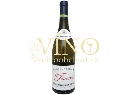 Paul Jaboule Ainé Côtes du Ventoux AOC Les Traverses francouzské bílé víno z Cotes du Rhone