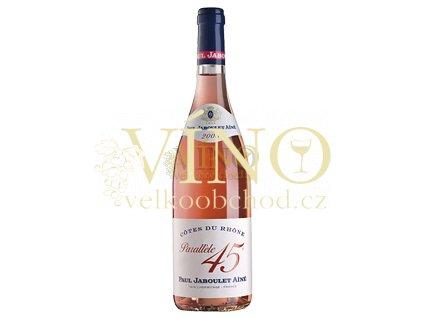Paul Jaboule Ainé Côtes du Rhône AOC Parallele 45 francouzské růžové víno z Cotes du Rhone