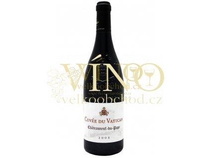 Cuvée du Vatican Châteauneuf-du-Pape AOC francouzské červené víno z Cotes du Rhone