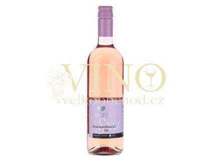 Lahofer Svatovavřinecké rosé 2018 kabinetní 0,75 l Volné Pole polosladké moravské růžové víno 3218