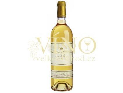 Château d´Yquem Premier Cru Classé Sauternes 2004 francouzské bílé sladké víno z Bordeaux, Sauternes