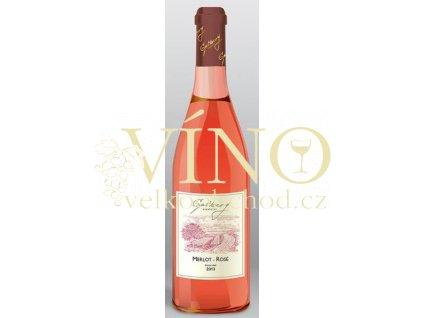 Gotberg Merlot Rosé 2018 pozdní sběr 0,75 l suché růžové víno