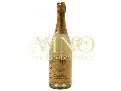 Carl Jung Peach Sparkling dealcoholized nealkoholické 0,75 l suché německé šumivé víno