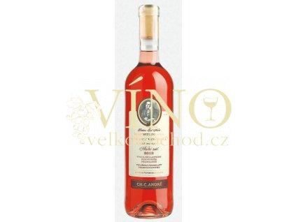 Šlechtitelská stanice vinařská Ch.C.André André Rosé 2018 pozdní sběr 0,75 l polosladké růžové víno