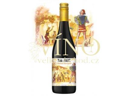 PLAISIR DE FRANCE Cabernet Sauvignon 0,75 L suché francouzské červené víno