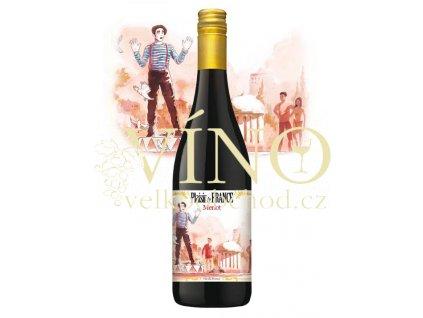 PLAISIR DE FRANCE Merlot 0,75 L suché francouzské červené víno