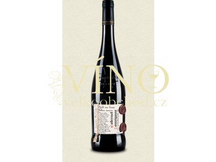 Templářské sklepy Sanctus Victoria - Cabernet Sauvignon, 2011 červené víno suché, Pozdní sběr