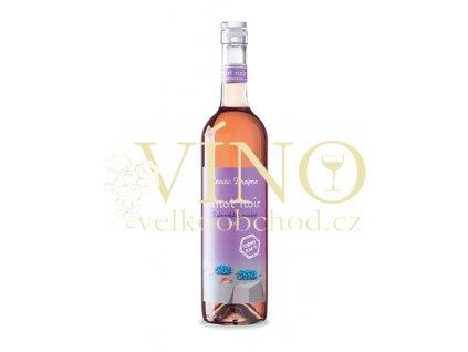 Znovín Znojmo Rulandské modré 2015 pozdní sběr 0,75 L polosuché růžové víno