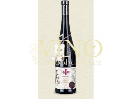 Templářské sklepy Gold Collection - Cabernet Sauvignon, 2011 červené víno suché, Pozdní sběr