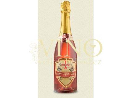 Templářské sklepy Saint Croix Sekt DEMI ROSÉ CHARMAT šumivé víno polosuché, Jakostní