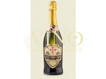 Templářské sklepy Saint Croix Sekt demi-sec charmat jakostní polosuché šumivé víno 0,75 l