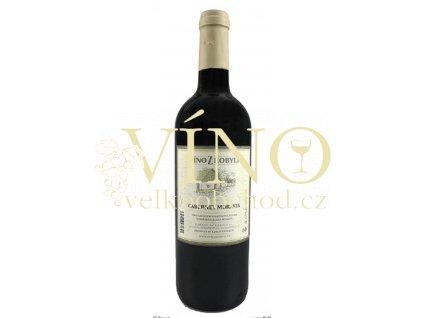 Víno z Kobylí Cabernet Moravia jakostní 0,75 l suché moravské červené víno