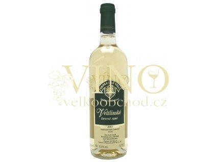 ZD Sedlec Veltlínské červené rané jakostní 0,75 L suché moravské bílé víno