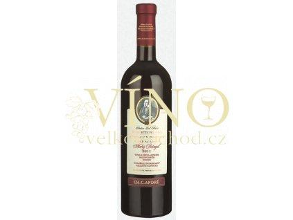 Šlechtitelská stanice vinařská Ch.C.André Modrý Portugal 2017 pozdní sběr 0,75 l suché červené víno