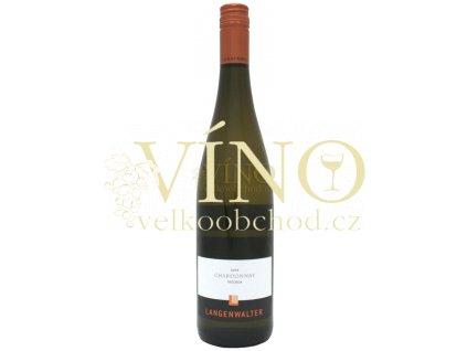 Weingut Langenwalter Chardonnay QbA 2014 0,75 L suché německé bílé víno z Pfalz