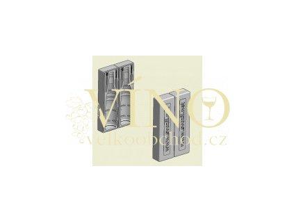 DVOJKA Ochranný polystyrénový obal pro přepravu vína na 2 lahve