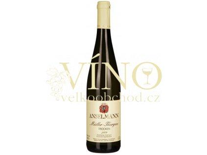 Weingut Anselmann Muller thurgau QbA 0,75 L suché německé bílé víno z Pfalz