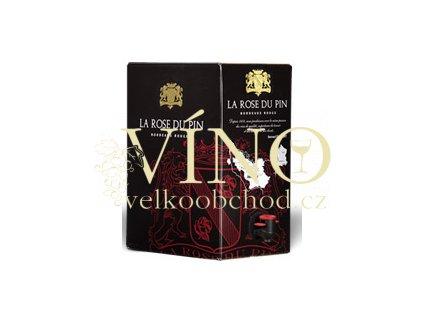 Akce ihned Ducourt La Rose du Pin Rouge Bordeaux AOC BIB 5 l francouzské červené víno z oblasti Bordeaux bag in box