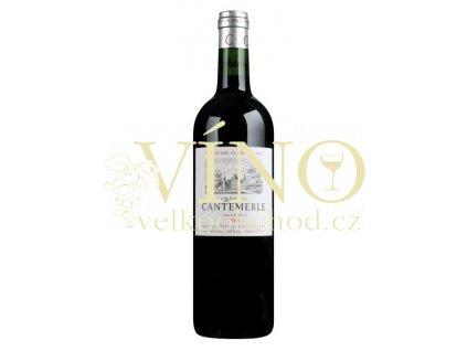 Château Cantemerle 5eme Cru Classé 0,75 L suché francouzské červené víno z Bordeaux Haut-Médoc