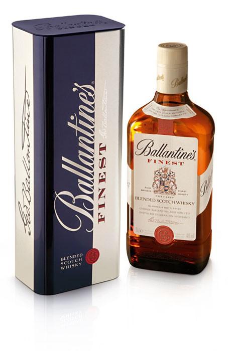 Ballantines Finest 0.7l 40%  blended whisky - plechová tuba