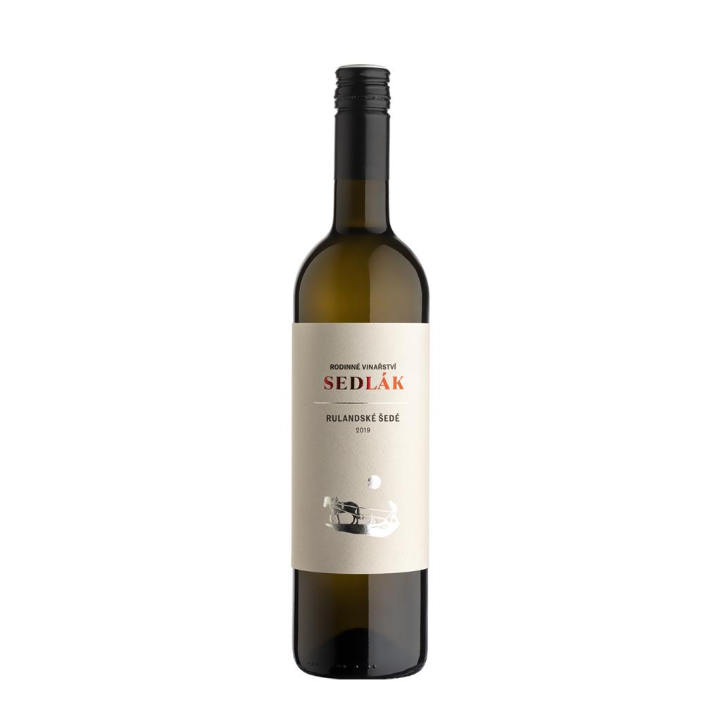 Rulandské šedé 2019 moravské zemské víno Sedlák Vinotéka Klánovice