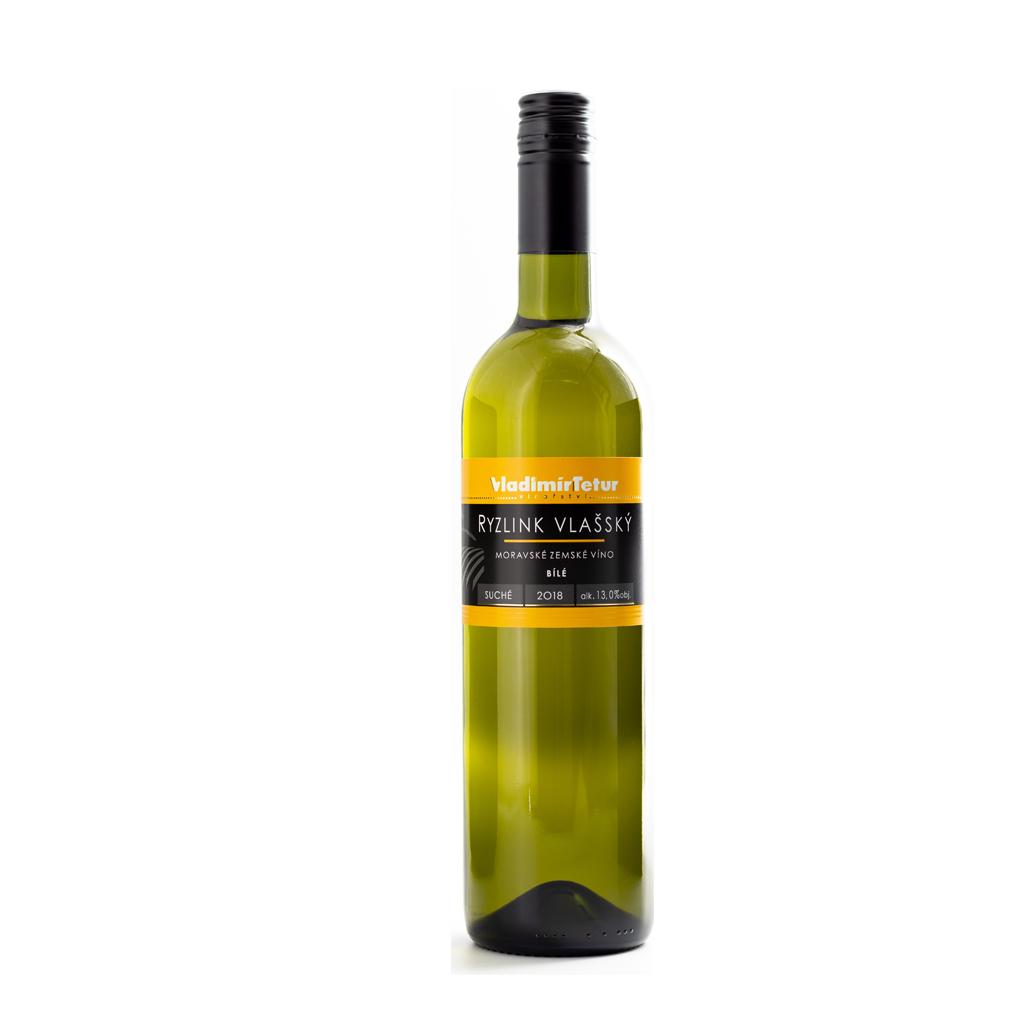 Tetur Ryzlink Vlašský moravské zemské víno Wine of Czech Republic Michal Procházka Vinotéka Klánovice