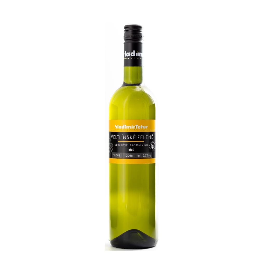 Tetur Veltlínské zelené jakostní víno Wine of Czech Republic Michal Procházka Vinotéka Klánovice