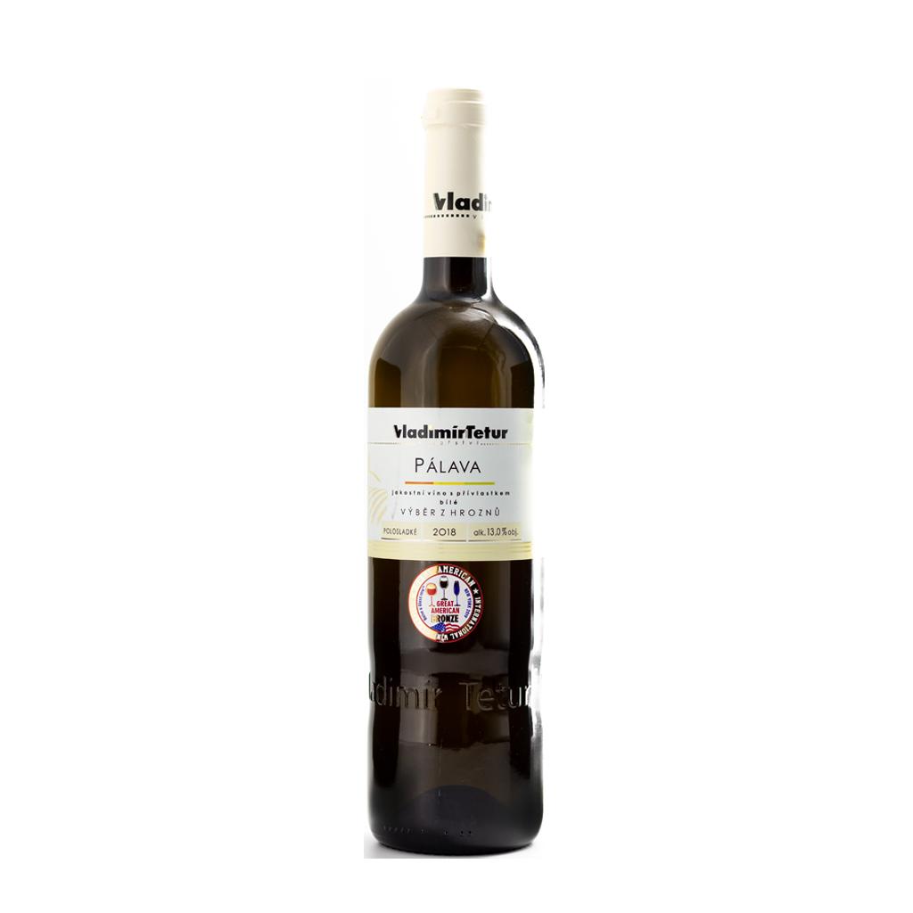 Tetur Pálava výběr z hroznů Wine of Czech Republic Michal Procházka Vinotéka Klánovice