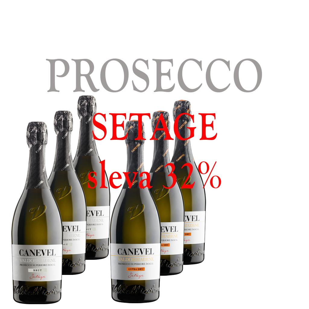 6 x 750 ml ED&Brut Canevel Vino e Cuore Michal Procházka Valdobbiadene Prosecco Superiore DOCG Spumante 3 x Extra Dry 0,75 & 3 x brut