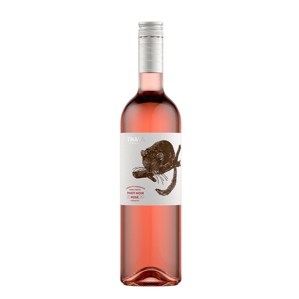 Pinot Noir rosé 2020 Thaya Wine of Czech Republic Michal Procházka Vinotéka Klánovice