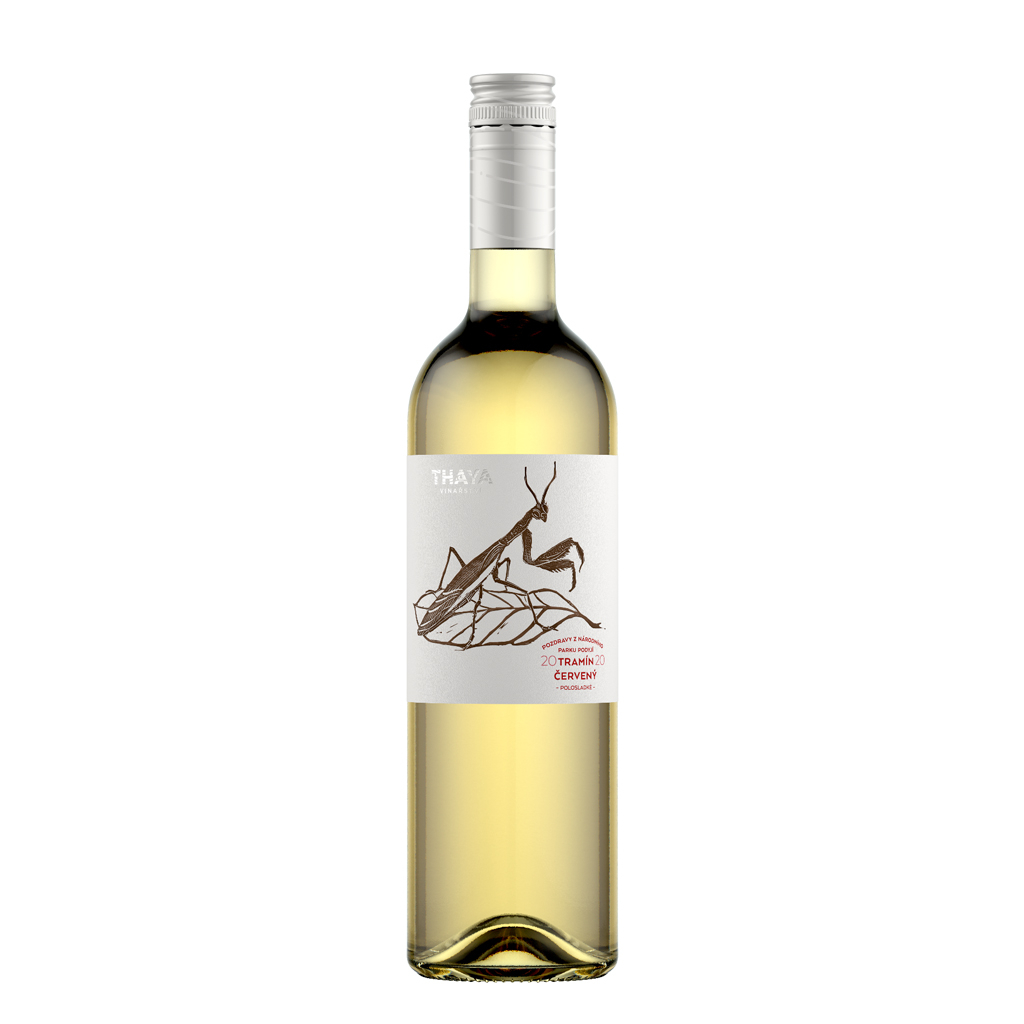 Tramín Pozdravy pozdní sběr polosladké 2020 Thaya Wine of Czech Republic Michal Procházka Vinotéka Klánovice