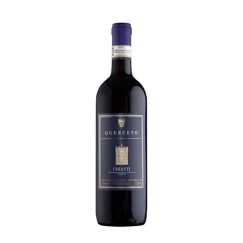 V0655 Chianti Querceto blue label Castello di Querceto DOCG 2018 www.vinotekaklanovice.cz Michal Procházka