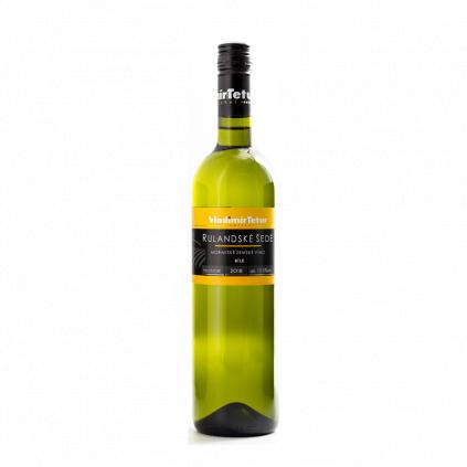 Tetur Rulandské šedé zemské víno Wine of Czech Republic Michal Procházka Vinotéka Klánovice