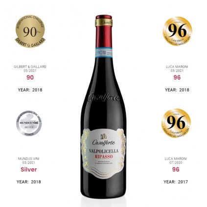 Casalforte Medals Ripasso Riondo Wine of Italy Michal Procházka Vinotéka Klánovice