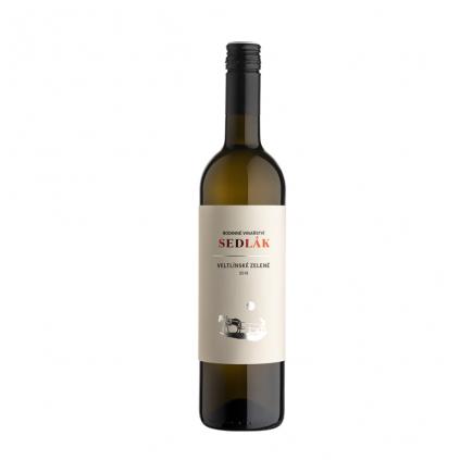 Veltlínské zelené moravské zemské víno Sedlák Vinotéka Klánovice