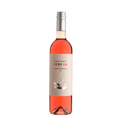 Frankovka Rosé moravské zemské víno Sedlák 19 Vinotéka Klánovice