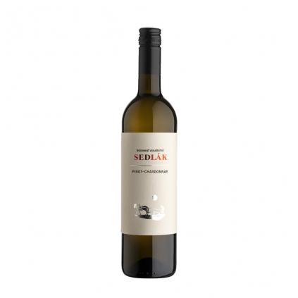 Pinot Chardonnay moravské zemské víno Sedlák Vinotéka Klánovice