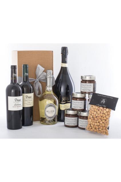 Dárková krabička na 2 až 3 vína/doplňky